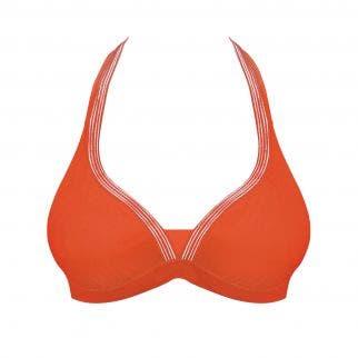 Haut de maillot de bain triangle sans armatures - Orange