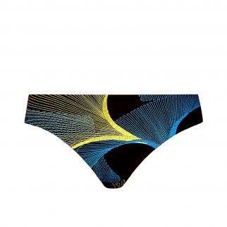 Bikini brief - Imprimé Noir Jaune Bleu