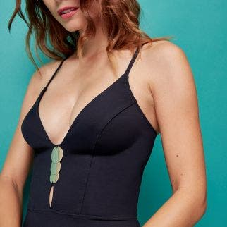 Signature one-piece swimsuit - Black