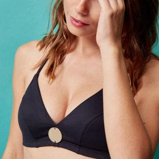 Wireless bikini triangle - Black