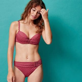 Haut de maillot push-up - Terracotta