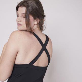 Wireless one-piece swimsuit - Black