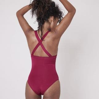 Wireless one-piece swimsuit - Cranberry