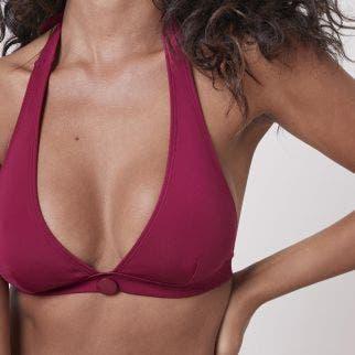 Wireless bikini triangle - Cranberry