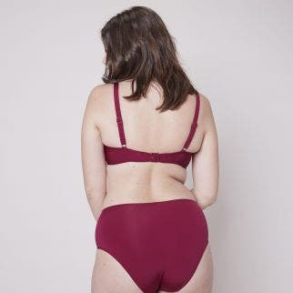 High-waist bikini brief - Cranberry