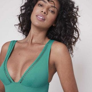 Wireless one-piece swimsuit - Sea Green