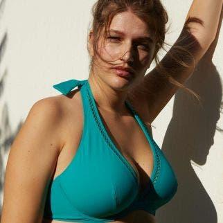 Haut de maillot de bain triangle avec armatures - Vert aqua