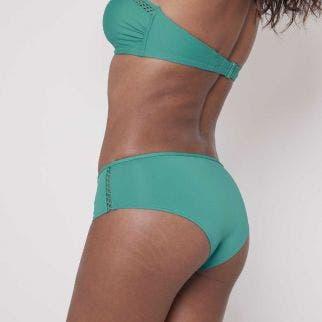 Culotte de bain taille haute - Vert aqua