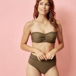 High-waist bikini brief - Olive
