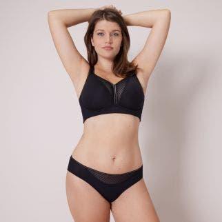 Culotte taille haute en coton - Noir