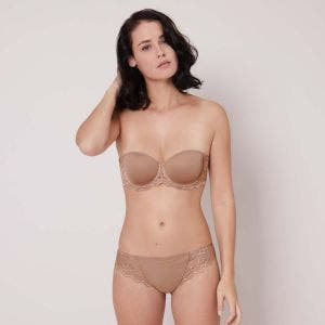 Non padded strapless bra, spacer 3D - Preppy Nude
