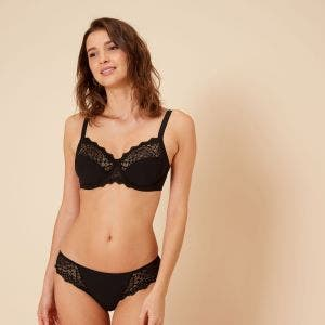 Full cup support bra - Black