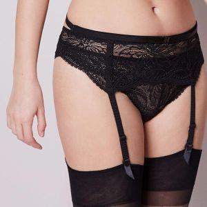Suspender belt - Black