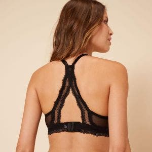 Soft cup triangle bra - Black