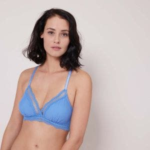 Triangel-BH ohne Bügel - Jeansblau