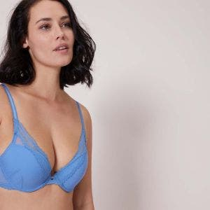 Triangle push-up bra - Denim