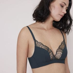 Soft cup triangle bra - Gravity Grey