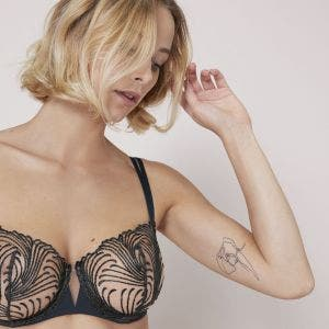 Half cup bra - Gravity Grey