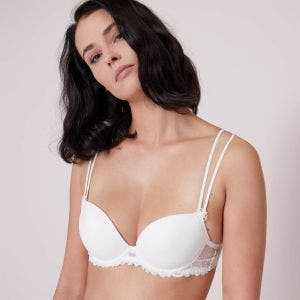 Push-up with racerback bra - Natural