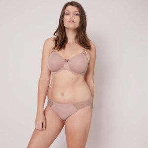 Rigid moulded bra - Antique rose