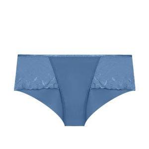 Shorty en coton - Bleu Denim