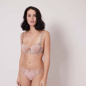 Cotton thong - Antique rose