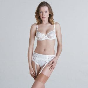 Suspender belt - Natural
