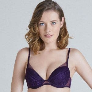 Soutien-gorge push-up plongeant - Figue