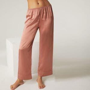 Pantalon en soie - Rose victoria