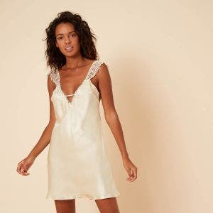 Silk nightdress - Champagne