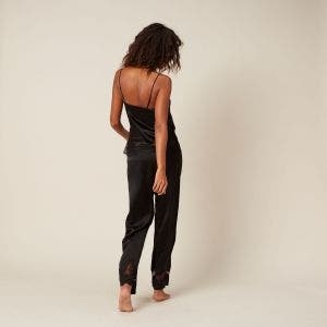 Silk trousers - Black
