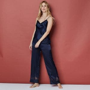 Silk trousers - Night Blue