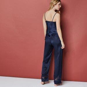 Pantalon en soie - Bleu Nuit
