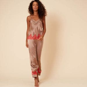 Silk trousers - Amaretto