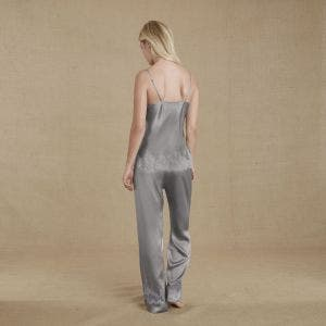 Silk trousers - Cloud