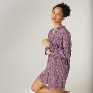 Long sleeved nightdress - Nymphéa