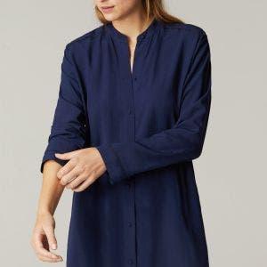 Long sleeved nightdress - Night Blue