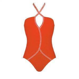 Maillot de bain 1 pièce sans armatures - Orange