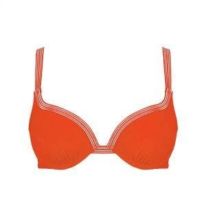Haut de maillot de bain à coque - Orange