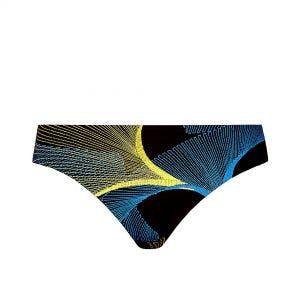 Culotte de bain - Imprimé Noir Jaune Bleu