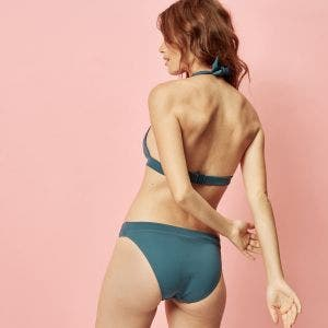 Wireless bikini triangle - Bleu paon
