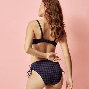 High-waist bikini brief - Vichy
