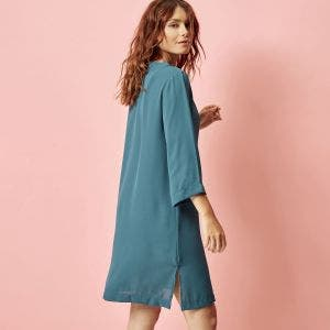 Long sleeves tunic - Bleu paon
