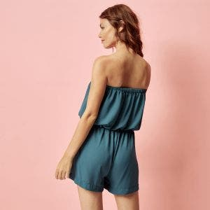Boyleg one-piece - Bleu paon