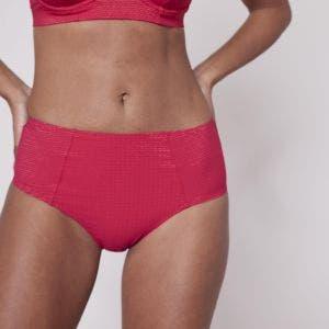 Bikini-Slip mit hohem Bund - Fuschia