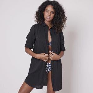 Long beach dress - Black
