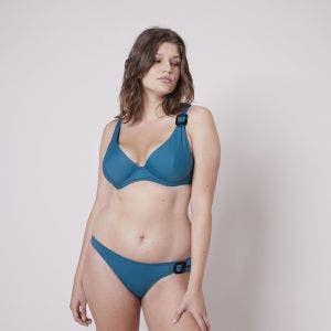 Haut de maillot de bain triangle avec armatures - Bleu zellige