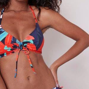 Wireless bikini triangle - Deep water Blue