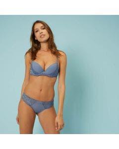 Soutien-gorge push-up - Bleu platine