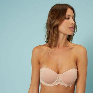 Soutien-gorge sans bretelles en Spacer 3D - Peau Rosée